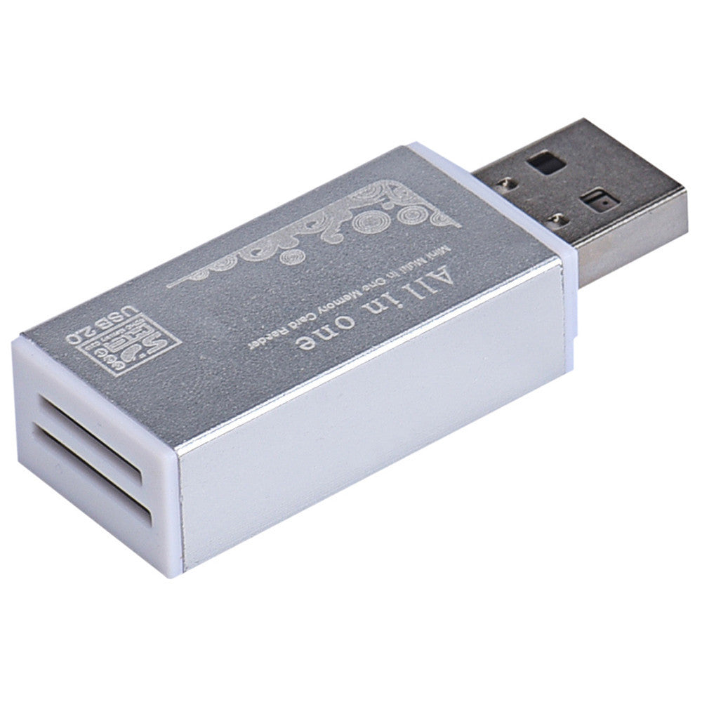 Deals Blast: Best Seller High Quality USB 2.0 All In 1 Multi Memory Card Reader TF/M2/MS/SD/MMC/RS-MMC/SDHC Silver Color Deals Blast