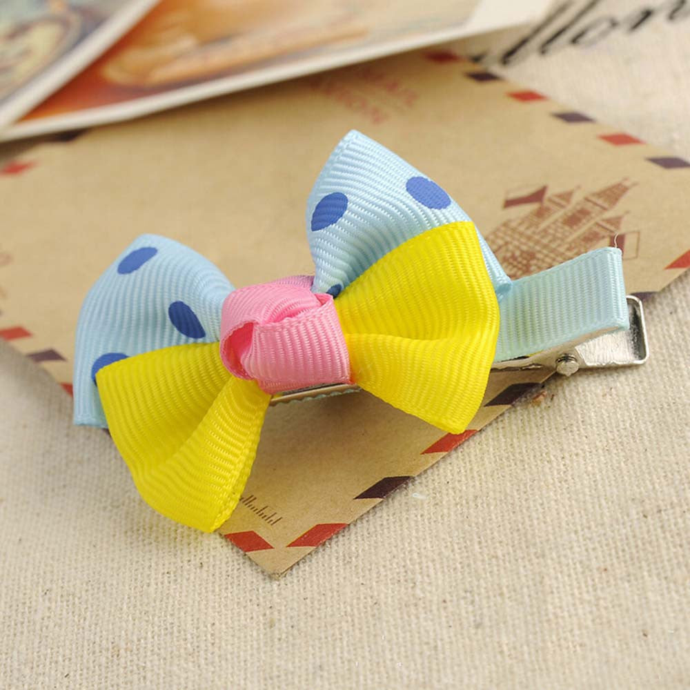 Deals Blast: Cute Dot Bowknot Hair Clips Baby Girl Hairpin Child Hair Accessories Deals Blast