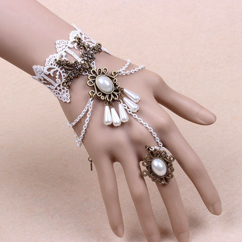 Deals Blast: Gothic bracelet for women wedding vintage lace bracelets & bangles and rings fashion jewelry sets - Deals Blast