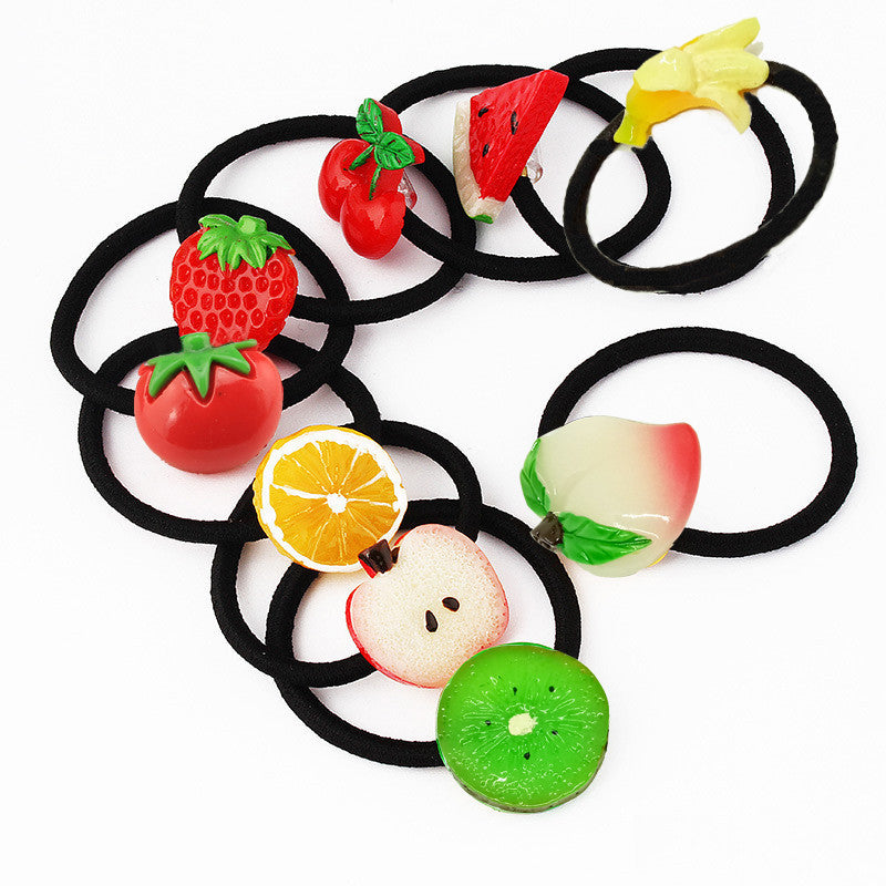 Deals Blast: New Summer Style Small Size Fruits Slice Fashion Hair Accessories for Girls Women Elastic Hair Bands Rubber Bands Headwear Deals Blast