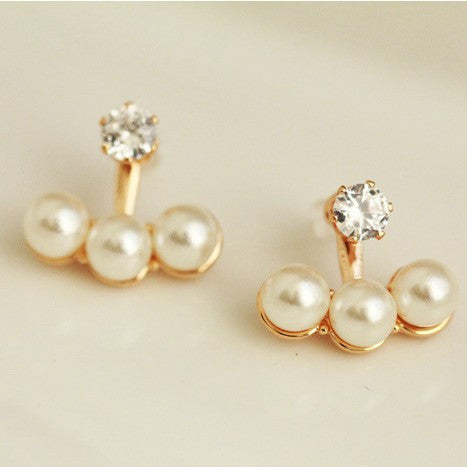 Deals Blast: New !!! Fashion Fine Jewelry Dazzling Shine Rhinestones Pearl Light Neckband Stud Earrings For Women Deals Blast