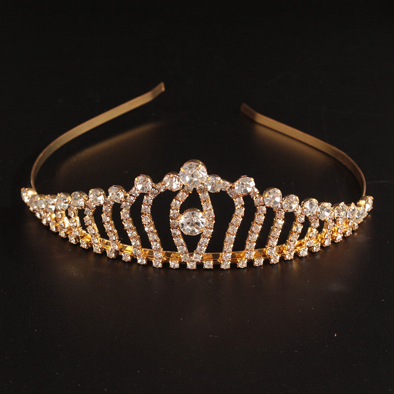 Wedding Crystal Tiaras Gold Silver Pageant Princess Tiara Bride Rhinestone Crown Bride Women Bridal Hair Accessories Deals Blast