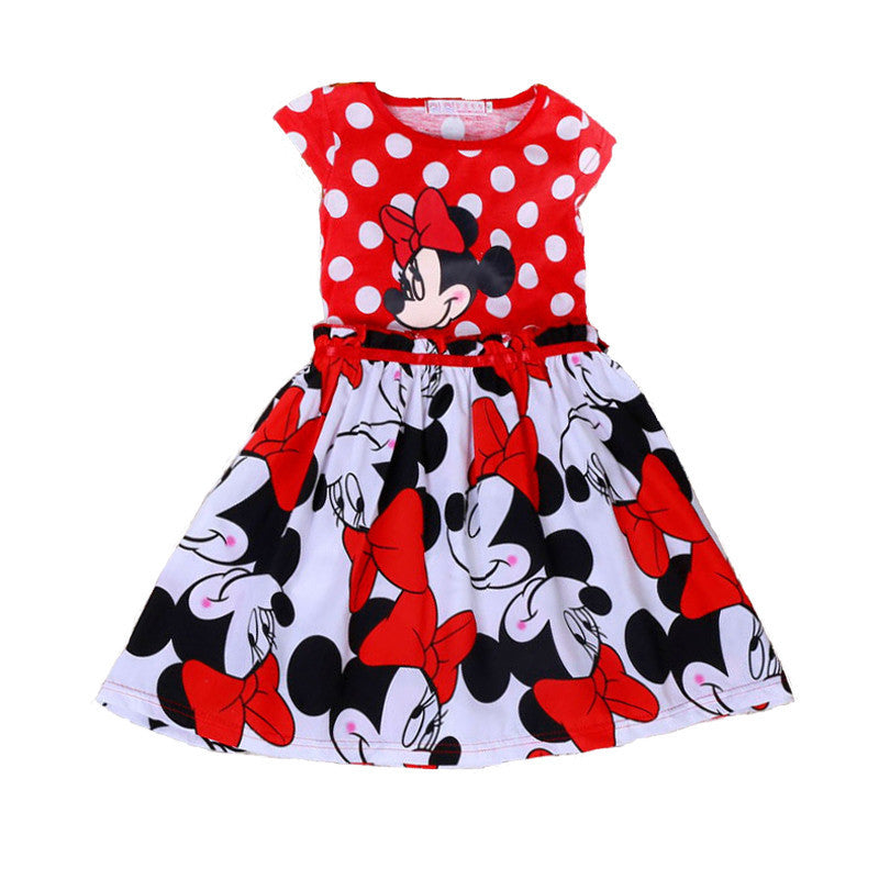 Deals Blast: Girls Clothing 2016 Summer Girl Dress Cartoon Minnie Children Clothes Red Kids Dresses for Girls Fashion Cute Baby Dress Deals Blast