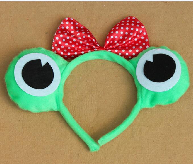 Deals Blast: Free shipping,children adult animal frog ear headband Frog Prince Frog princess with bow halloween party dress costume hairband Deals Blast