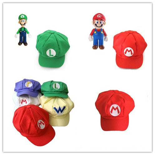 Deals Blast: Anime Super Mario Caps hat red cap Cosplay Halloween Costume Buckle Hats kids Caps plush toys Deals Blast
