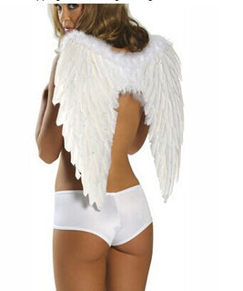 Deals Blast: New Hot Adults Kids Feather Fairy Angel Wings Halloween Party cosplay Fancy Dress Costume size for adult and kids Deals Blast