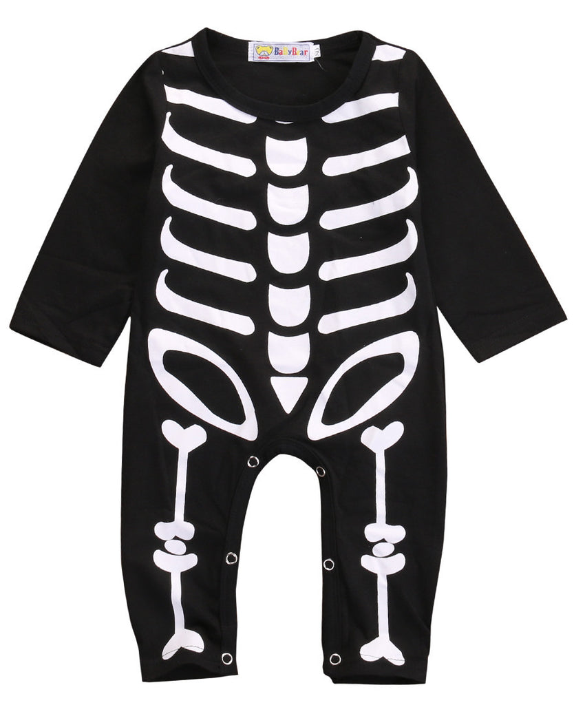 Deals Blast: Autumn Spring Newborn Kids Long Sleeve Skull Romper Baby Boys Girls Halloween Rompers Jumpsuit Clothes Outfit Costume Deals Blast