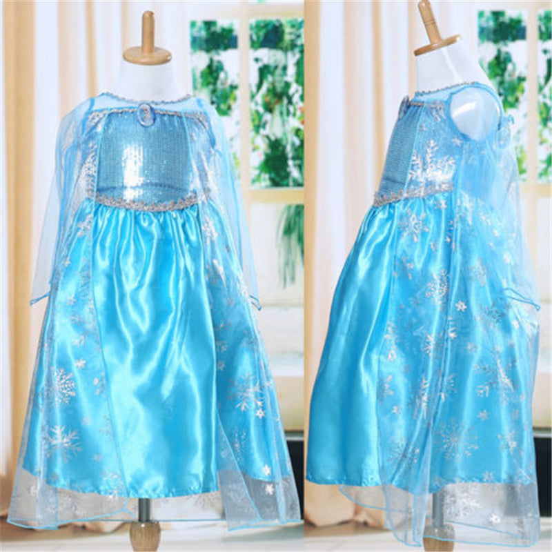 Deals Blast: Snow queen elsa dress baby girls Cosplay Dress Costume princess anna Dress Kids clothes Halloween Christmas dress for child Deals Blast
