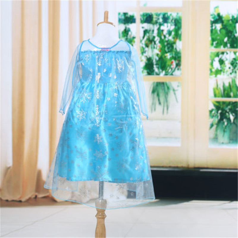 Deals Blast: Snow queen elsa dress baby girls Cosplay Dress Costume princess anna Dress Kids clothes Halloween Christmas dress for child - Deals Blast