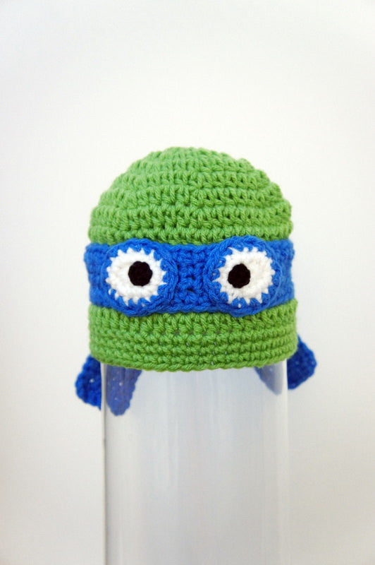 Deals Blast: Kids TMNT Hat - Teenage Mutant Ninja Turtle Hat - Christmas Gift for Kids - Kids Tmnt Halloween Costume - Crochet TMNT Hat Deals Blast