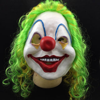 Deals Blast: Scary Clown Mask Joker Men's Full Face Party Day Horror Funny Women Mask For kids Halloween Party Masquerade Costume Supplies Deals Blast