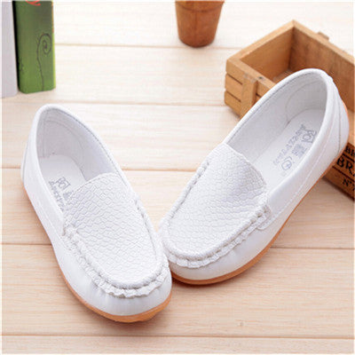Deals Blast: New Fashion Kids shoes all Size 21- 36 Children PU Leather Sneakers For Baby shoes Boys/Girls Boat Shoes Slip On Soft 5 color Deals Blast