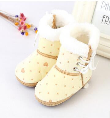 Deals Blast: Fashion Newborn Baby Children Shoes Boots First Walkers Soft Soled Super Warm Infant Girls Boys Kids Shoes Boots Crib Bebe Boots Deals Blast