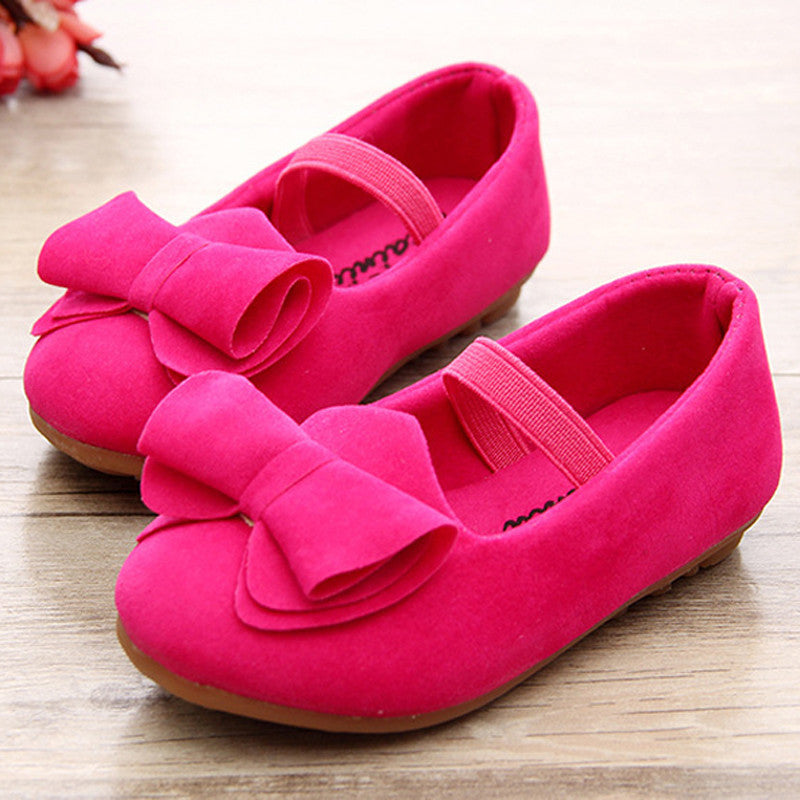 Deals Blast: Fashion 2016 Flat Shoes Sneakers For Kids Baby Girls Children Breathable Bowknot Casual Big Bow Velvet Loafers Size 043 Deals Blast