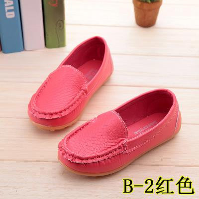 Deals Blast: New Boys Girls Soft Leather Loafer Children Shoes Breathable Sneakers For Kids Flats With Running Shoes Toddler Little Big Kid Deals Blast