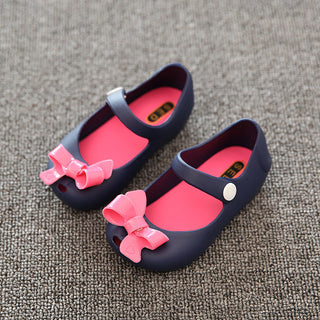Deals Blast: 2016 New Summer Children Shoes Girl Baby Jelly Mini Cute Girls Sandals kids Shoes Girl Bow Sandals Flat Skid Rain Boots 26-39 Deals Blast