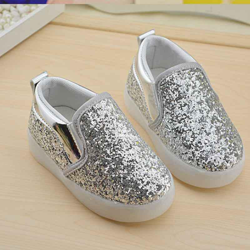 Deals Blast: New Boys Girls Led Light Up PU Leather Children Shoes Luminous Glowing Flats Sneaker Sports Casual Running Kids Shoe Size 21-30 Deals Blast