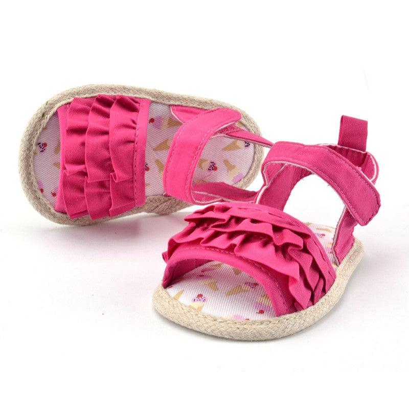Deals Blast: New Toddlers Baby Shoes Girls Princess Infrants Crib Shoes Kids Prewalkers Summer Sandals Hot Sales Deals Blast