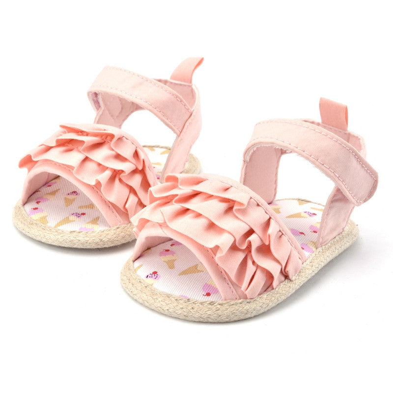 Deals Blast: New Toddlers Baby Shoes Girls Princess Infrants Crib Shoes Kids Prewalkers Summer Sandals Hot Sales: Deals Blast