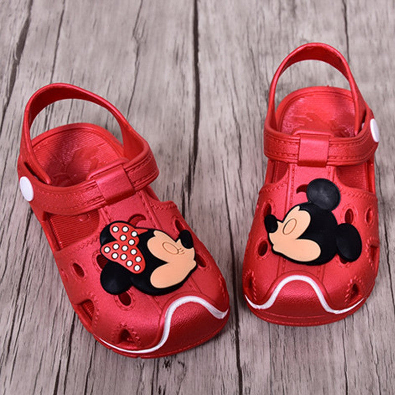 Deals Blast: Mickey & Minnie Children'S Sandals Slippers 2016 Summer Boys Girls Sandals Children Hole Shoes Slip Sandals Beach Sandals Soft Deals Blast