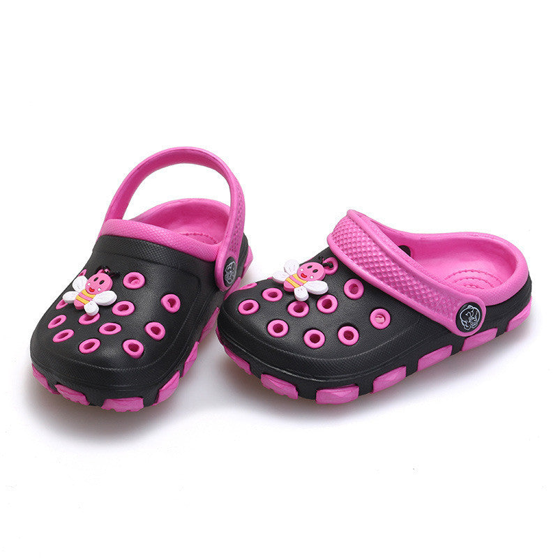 Deals Blast: Child Sandals Slippers Hole Shoes Boys Girl Summer Wear Non-slip Cartoon Baby Garden Shoes Fashion Casual Sneakers Deals Blast