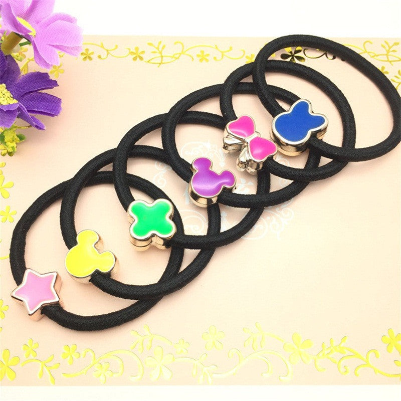 Deals Blast: Colored Mickey Clover Hair Accessories For Women Headband,Elastic Bands For Hair For Girls,Hair Band Hair Ornaments For Kids - Deals Blast