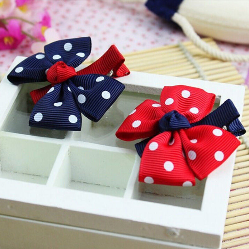 Deals Blast: 1pcs Newly Design Fashion Grosgrain Children Headdress Girls Cute Hair Clips Headwear Big Bow Dot Hairpins Baby Hair Accessories Deals Blast