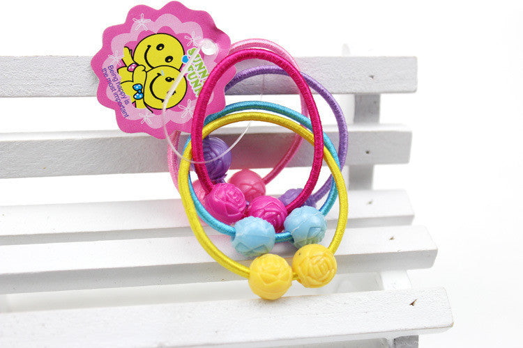 Deals Blast: 5PCS/Lot Double Beads Teddy Bear Hair Accessories Headband,Elastic Bands For Hair For Girls,Hair Band Hair Ornaments For Kids Deals Blast