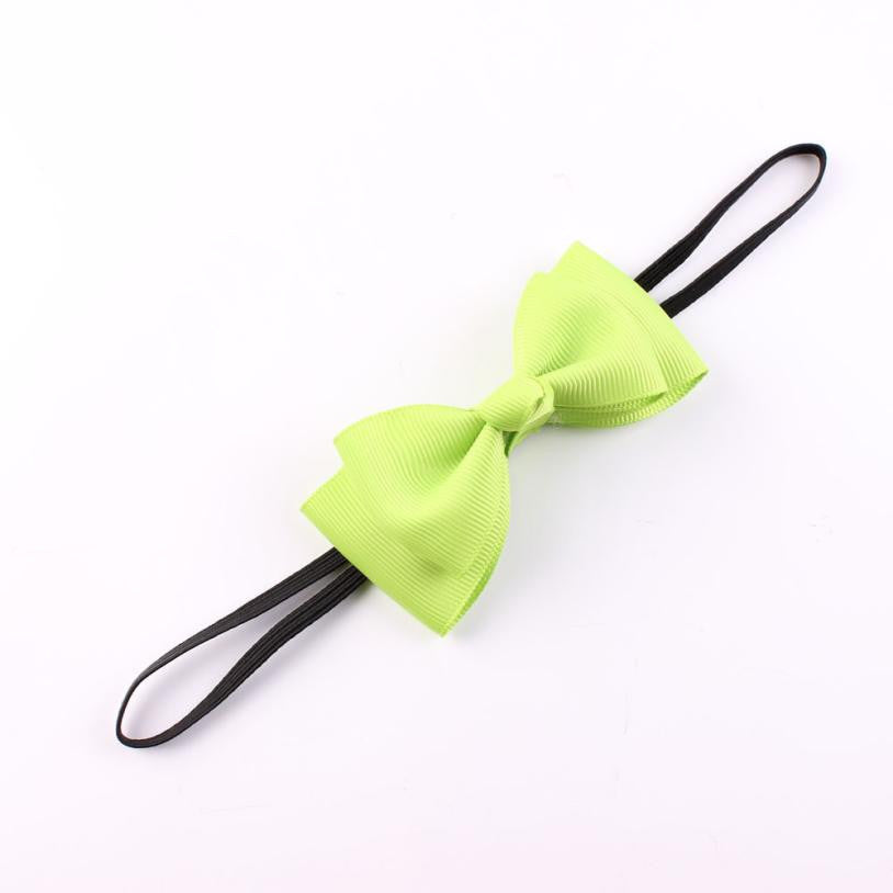 Deals Blast: Newly Design Kids Baby Girls Bowknot Headbands Candy Color Elastic Hair Accessories Deals Blast