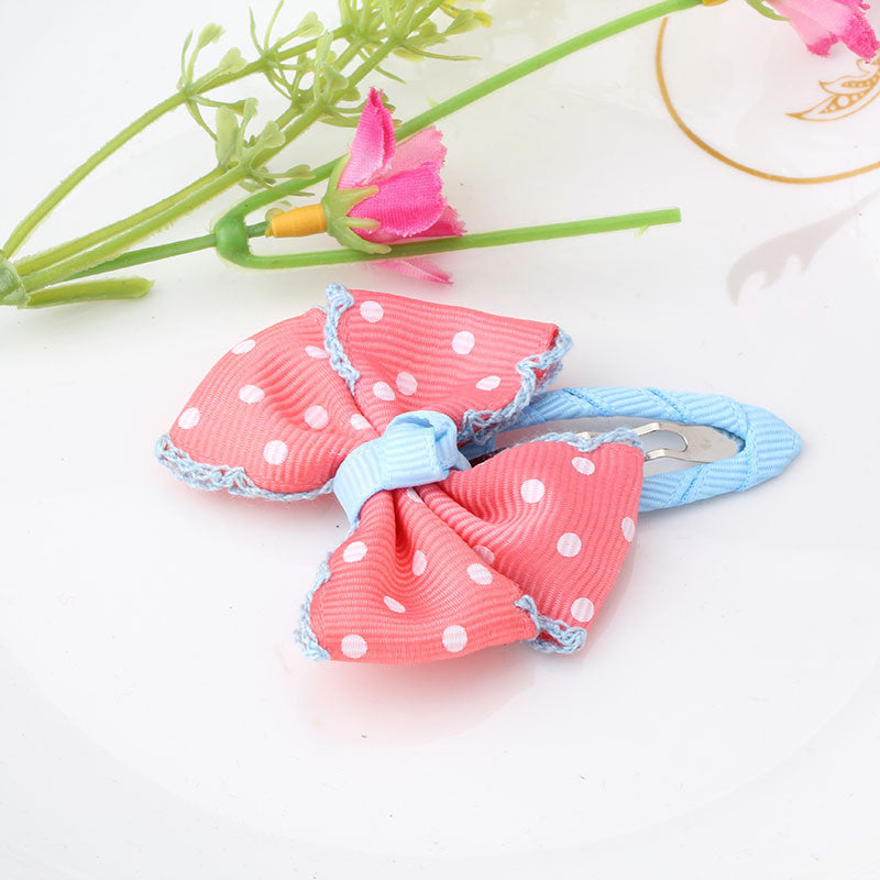 Deals Blast: New Dot Bow Hairpins Baby Hair Accessories Hair Ornaments Bowknot BB Clip Barrette For Kids Deals Blast