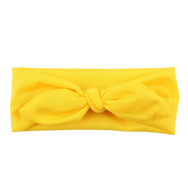 Deals Blast: Fashion Baby Kids Girls Rabbit Bow Ear Hairband candy color cute Headband Turban Knot Head Wraps hair accessories Deals Blast
