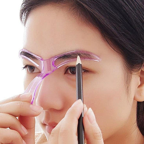 Deals Blast: New Hot Women's Reusable Eyebrow Stencils Shaping Grooming Eye Brow Make Up Template Random Color: Deals Blast