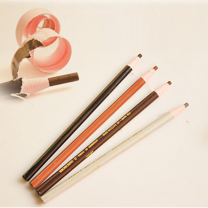 Deals Blast: Waterproof Eyebrow Pencil Enhancer Makeup Eye Pencil Permanent Eye Liner Brow Pencils Paint Make up Cosmetic Tool Deals Blast