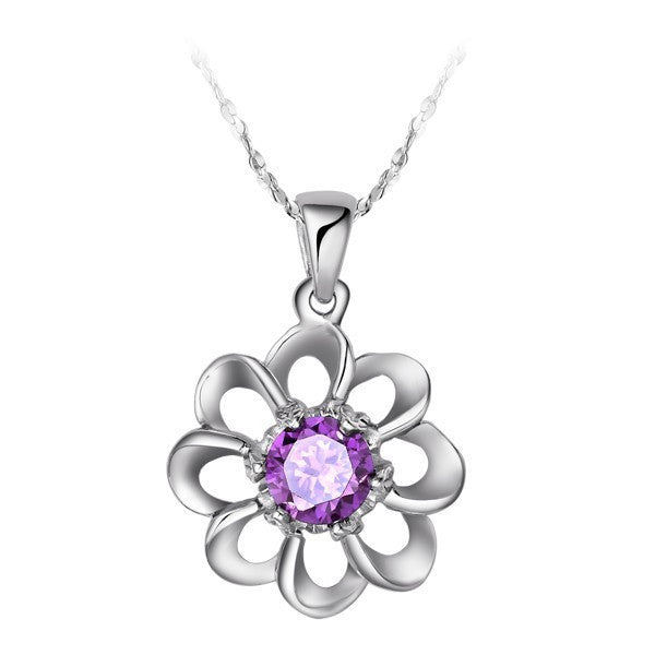 Deals Blast: Fashion Necklaces for Women Crystal Silver Flower Necklace Gift Neckless Pendants Accessories Jewelery Ulove Deals Blast
