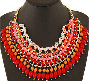 Deals Blast: European fashion detachable collar necklace cloth wholesale necklace Handmade Gems Crystal Choker Necklaces Statement Jewelery Deals Blast