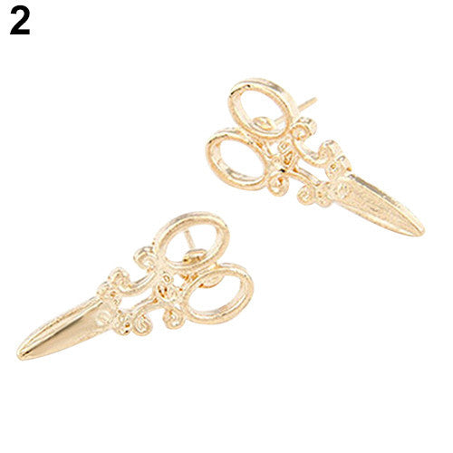 Deals Blast: Women Mini Scissors Ear Studs Charm Punk Earrings Jewelry Gift Gold Silver Tone Deals Blast