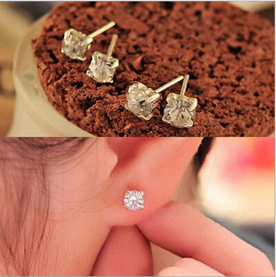 Deals Blast: Korean jewelry wholesale claw flash zircon alloy crystal earrings studs earring specials for women Deals Blast