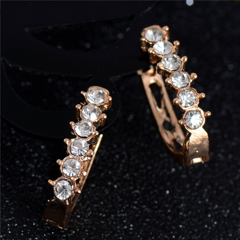Deals Blast: 18K Gold Filled Earrings Classic Round Hoop Earrings for Women Crystal Jewelry boucle d'oreille Deals Blast