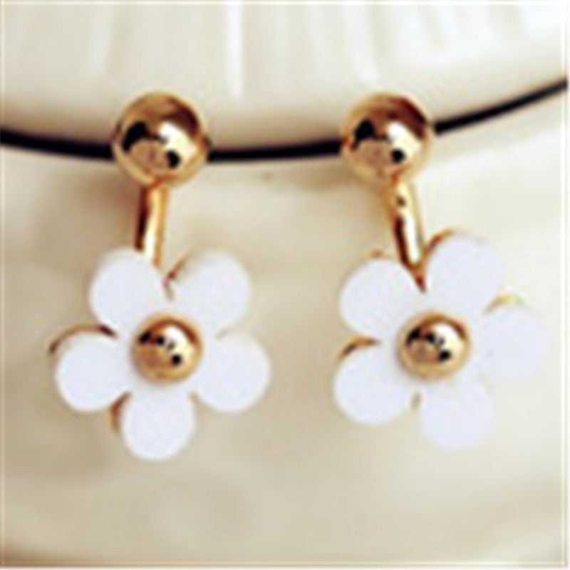 Deals Blast: Small Golden Flower With Five Petals After Hanging Earrings Fashion Star Earrings Jewelry Deals Blast