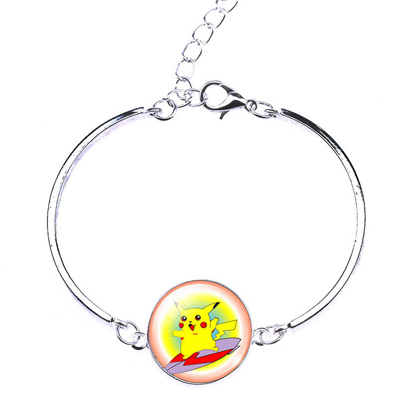 Deals Blast: New Arrival Pikachu Pokemon Bracelets & Bangles Fashion Pokeball Charm Bracelets Jewelry For Women Pokemon Go Women Bracelets Deals Blast