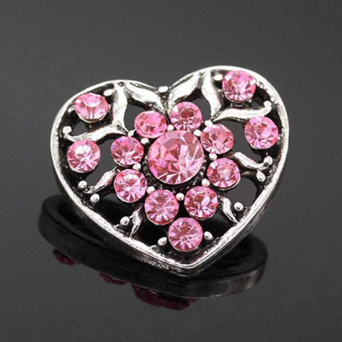 Deals Blast: 2016 New Love Heart Snap Button Jewelry For Women Girls Rhinestone Charms Deals Blast