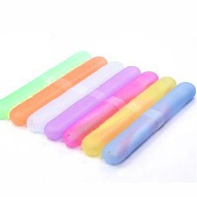 1pcs Portable Toothbrush Cover Holder Outdoor Travel Hiking Camping Toothrush Cap Case Protect Random Color - Deals Blast