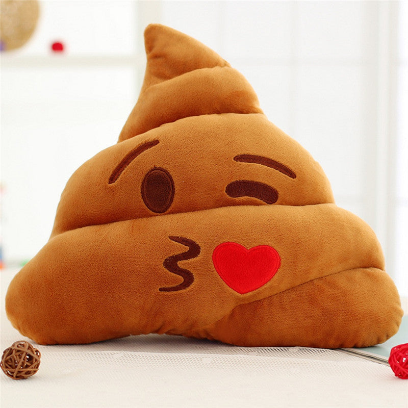 18CM /25CM Cute Stuffed Plush Toy Doll Poop Pillow Poo Cojines Coussin Emotion Pillow Cushion Emoji Pillows - Deals Blast