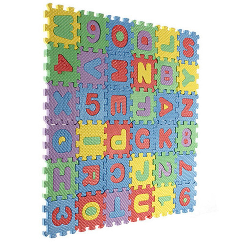 Deals Blast: 36pcs Unisex Mini Puzzle Kid Educational Toy Alphabet Letters Numeral Foam Mat Hot Sale - Deals Blast