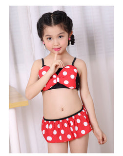 Cartoon Minnie Mouse Girl Swimwear Bowknot Baby Girl Bikini Set Suit Bottoms Kids Gilrs Swimsuit Bathing Deals Blast