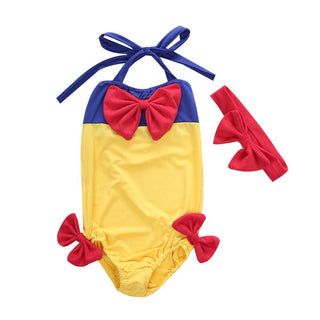 New Girls Kids Snow White Swimmable Bikini Set Swimwear Swimsuit Swim Costume 2-7T: Deals Blast