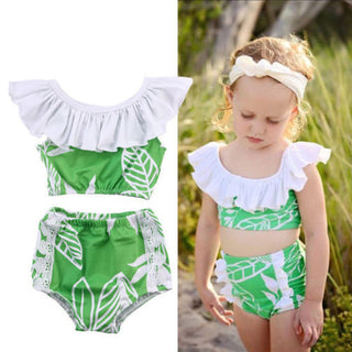 2Pcs Toddler Kids Baby Girls Swimsuit Swimwear Bathing Suit Tankini Bikini Set Deals Blast