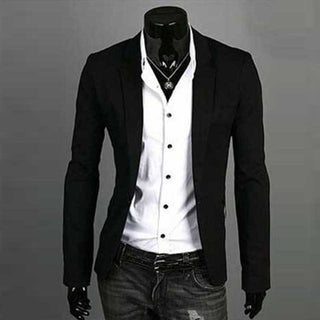 Deals Blast: Men's Blazer Jacket New Arrival Casual Slim Blazer Fashion Single Button Blazer Masculino M-3XL Size 7 Colors Deals Blast