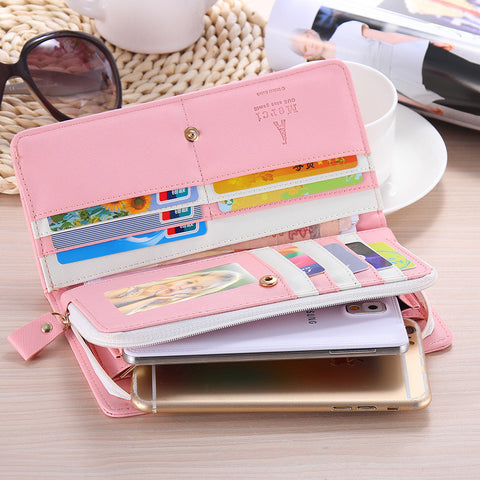 Deals Blast: Wallet Case For iPhone 7 6 6s Plus 4s 5s 5c SE Samsung Galaxy S7 S6 Edge S5 S4 S3 S2 E5 E7 Cover Woman Handbags