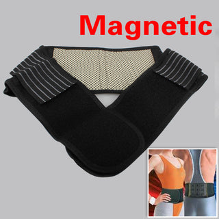 Adjustable Self-heating Lower Pain Relief Magnetic Therapy Back Waist Support Lumbar Brace Belt Double Pull Strap Deals Blast